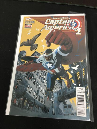Steve Rogers Captain America #1 Comic Book from Amazing Collection B