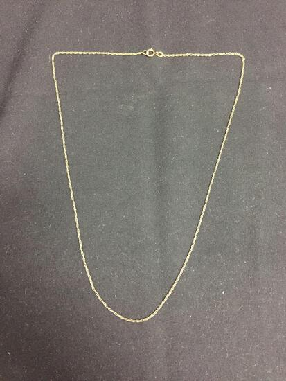 Rope Link 0.75mm Wide 18in Long 14Kt Gold Filled Chain
