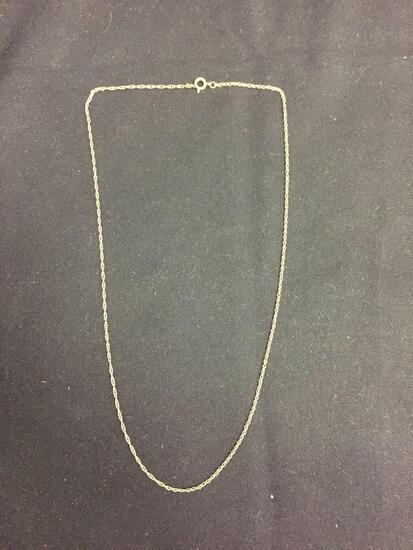 Rope Link 1.5mm Wide 18in Long 14Kt Gold Filled Chain