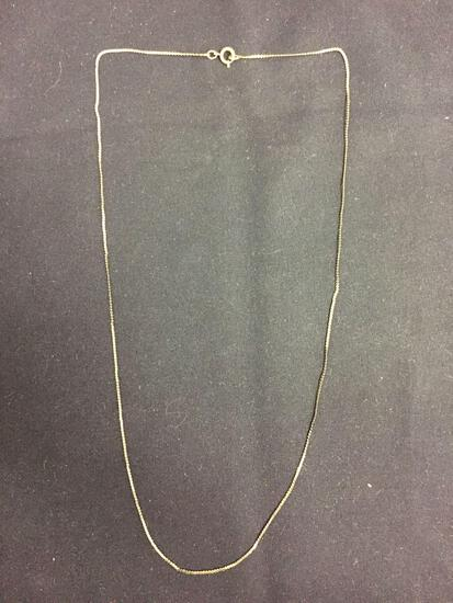 Serpentine Link 0.75mm Wide 18in Long 14kT Gold Filled Chain