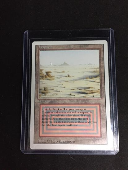 Magic the Gathering BADLANDS Revised Dual Land Trading Card
