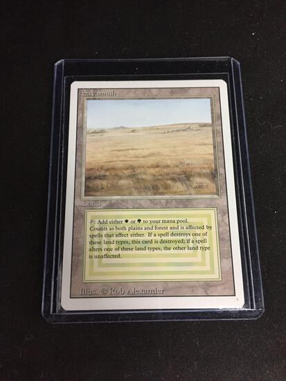 Magic the Gathering SAVANNAH Revised Dual Land Trading Card