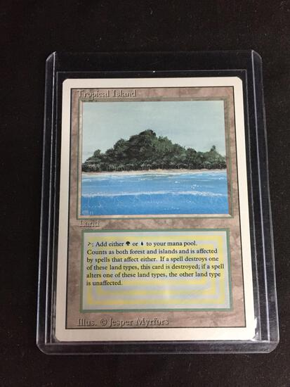 Magic the Gathering TROPICAL ISLAND Revised Dual Land Trading Card
