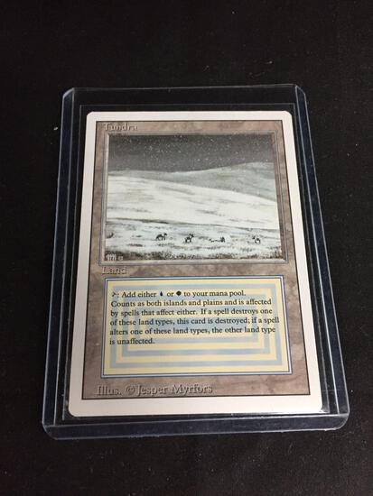 Magic the Gathering TUNDRA Revised Dual Land Trading Card