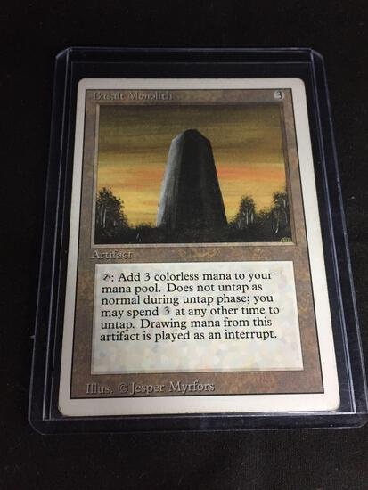 Magic the Gathering BASALT MONOLITH Revised Vintage Trading Card