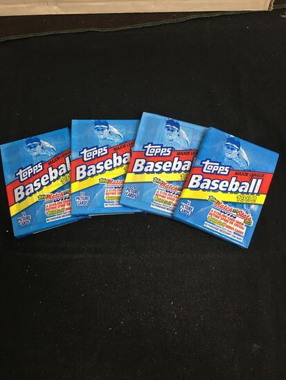 Lot of 4 Factory Sealed 1992 Topps Baseball MLB 15 Card Packs