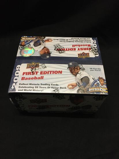 Factory Sealed Upper Deck 2009 Baseball FIRST EDITION Hobby Box 36 Pack Box