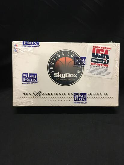 Factory Sealed Skybox Premium 1993-94 Basketball Series II Hobby Box 36 Pack Box