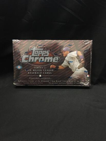 Factory Sealed Topps Chrome 1999 Baseball Series 1 Hobby Box 24 Pack Box