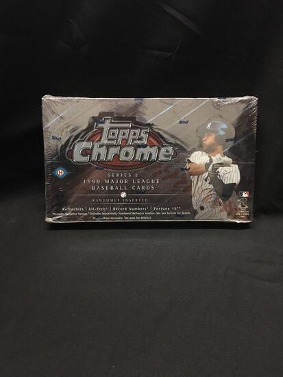 Factory Sealed Topps Chrome 1999 Baseball Series 2 Hobby Box 24 Pack Box