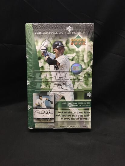 Factory Sealed Upper Deck 2005 Baseball Series 2 Hobby Box 24 Pack Box
