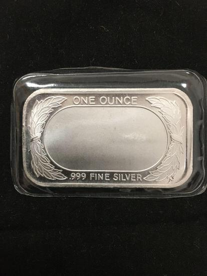 1 Troy Ounce .999 Fine Silver AMERICAN FLAG Silver Bullion Bar