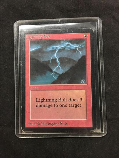 Magic the Gathering LIGHTNING BOLT Vintage ALPHA Trading Card from Collection