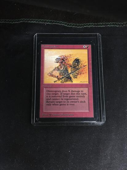 Magic the Gathering DISINTEGRATE Vintage ALPHA Trading Card from Collection