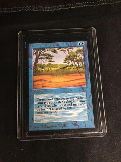 Magic the Gathering PHANTASMAL TERRAIN Vintage ALPHA Trading Card from Collection