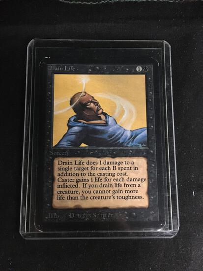 Magic the Gathering DRAIN LIFE Vintage ALPHA Trading Card from Collection