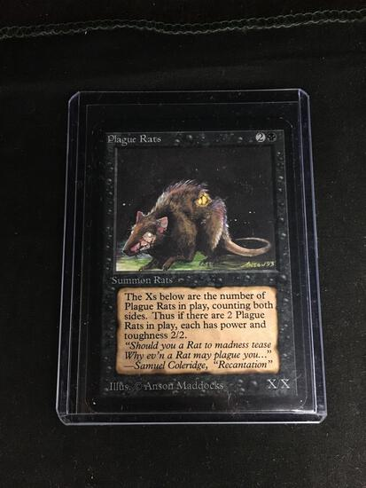 Magic the Gathering PLAGUE RATS Vintage ALPHA Trading Card from Collection