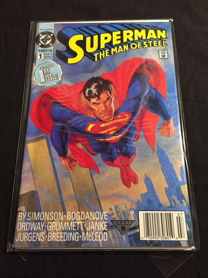 Superman The Man of Steel #1 Comic Book from Amazing Collection B