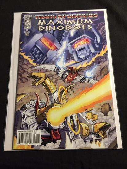 The Transformers Maximum Dinobots #1 Cover B Comic Book from Amazing Collection