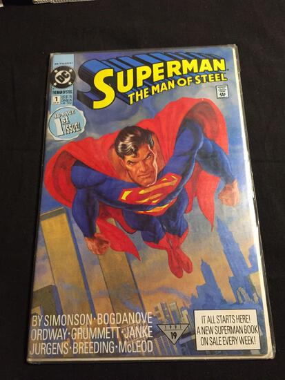 Superman The Man of Steel #1 Comic Book from Amazing Collection