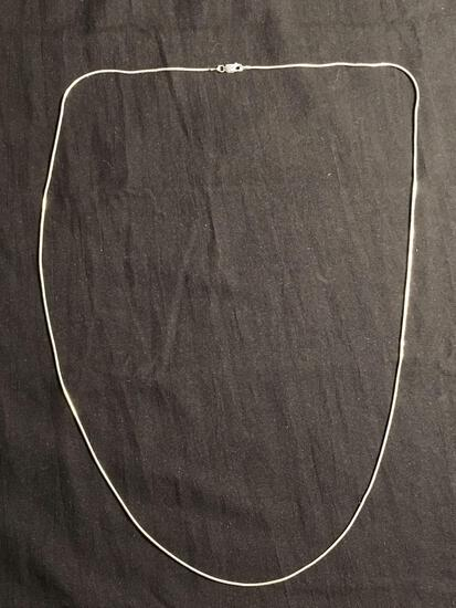 Snake Link 1mm Wide 30in Long High Polished Signed Designer Sterling Silver Italian Made Chain