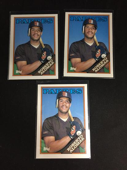 3 Card Lot of 1998 Topps Traded ROBERTO ALOMAR ROOKIE Baseball Cards