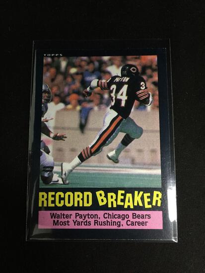 1985 Topps #6 WALTER PAYTON Record Breaker BEARS Vintage Football Card