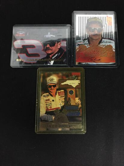 3 Card Lot of DALE EARNHARDT SR. Nascar Racing Cards from Collection