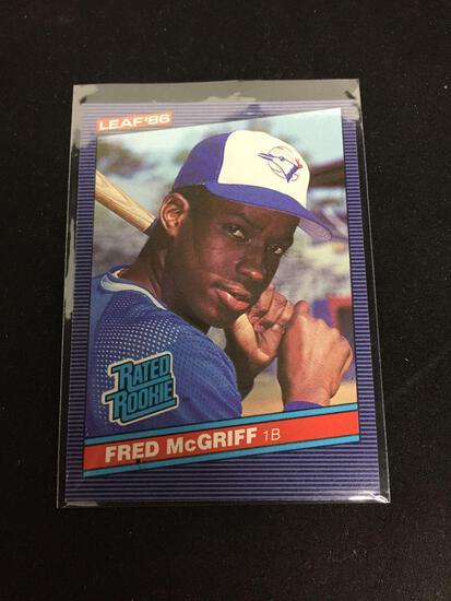 1986 Leaf #28 FRED MCGRIFF Blue Jays ROOKIE Baseball Card
