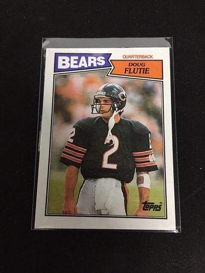 1987 Topps #45 DOUG FLUTIE Bears Bills ROOKIE Football Card