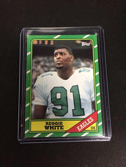 1986 Topps #275 REGGIE WHITE Eagles Packers ROOKIE Football Card