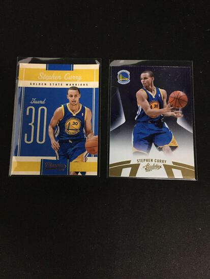 2 Count Lot of 2010-11 STEPHEN CURRY 2nd Year Basketball Cards