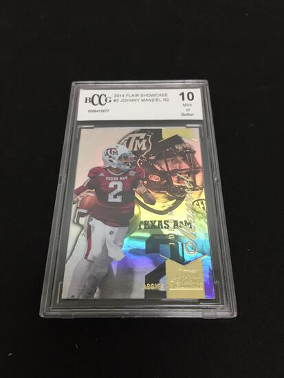 BCCG Graded Mint 10 - 2014 Flair Showcase #2 Johnny Manziel R2