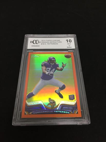 BCCG Graded Mint 10 - 2013 Topps Chrome Orange Refractors #19 C. Patterson RC
