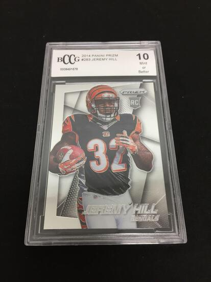 BCCG Graded Mint 10 - 2014 Panini Prizm #283 Jeremy Hill RC