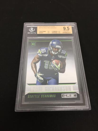 BGS Graded Mint 9.5 - 2014 Rookies & Stars #177A Paul Richardson RC