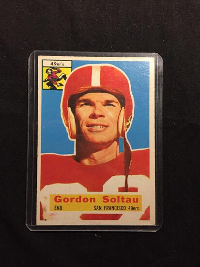 1956 Topps #2 GORDON SOLTAU 49ers Vintage Football Card