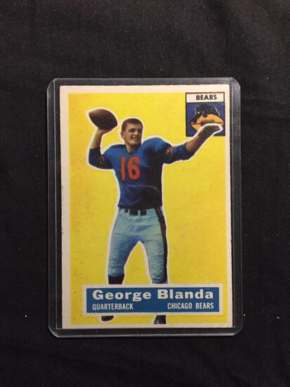 1956 Topps #11 GEORGE BLANDA Bears Vintage Football Card
