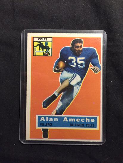 1956 Topps #12 ALAN AMECHE Colts Vintage Football Card