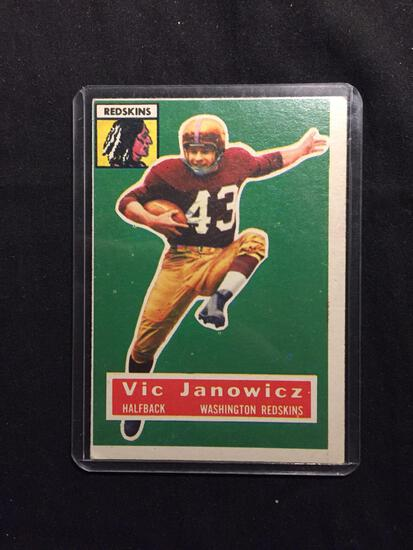 1956 Topps #13 VIC JANOWICZ Redskins Vintage Football Card
