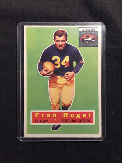 1956 Topps #15 FRAN ROGEL Steelers Vintage Football Card