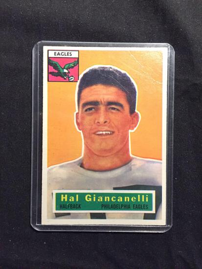 1956 Topps #16 HAL GIANCANELLI Eagles Vintage Football Card