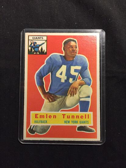 1956 Topps #17 EMLEN TUNNELL Giants Vintage Football Card