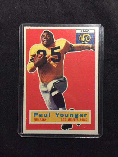 1956 Topps #18 PAUL YOUNGER Rams Vintage Football Card