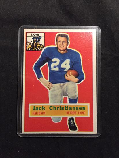 1956 Topps #20 JACK CHRISTIANSEN Lions Vintage Football Card