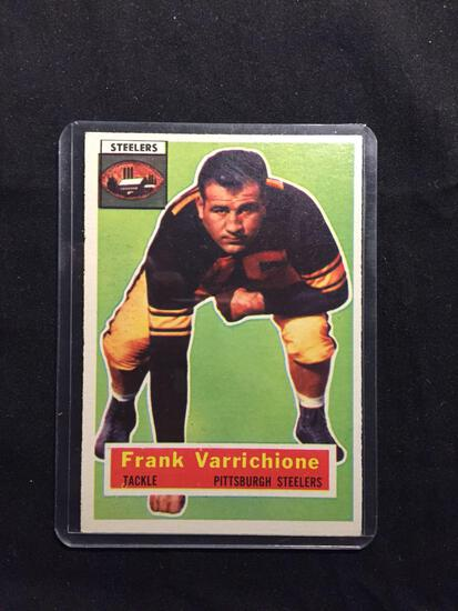 1956 Topps #3 FRANK VARRICHIONE Steelers Vintage Football Card