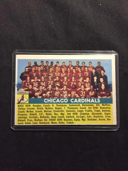 1956 Topps #22 CHICAGO CARDINALS Team Card Vintage Football Card