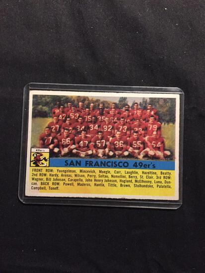 1956 Topps #26 SAN FRANCISCO 49ERS Team Card Vintage Football Card