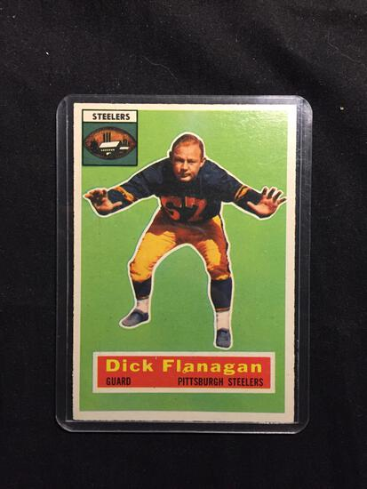 1956 Topps #27 DICK FLANAGAN Steelers Vintage Football Card