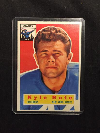 1956 Topps #29 KYLE ROTE Giants Vintage Football Card